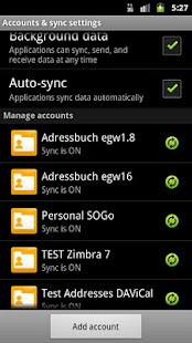 CardDAV-Sync free - screenshot thumbnail