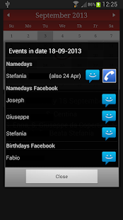 Namedays and Birthdays Lite - screenshot thumbnail