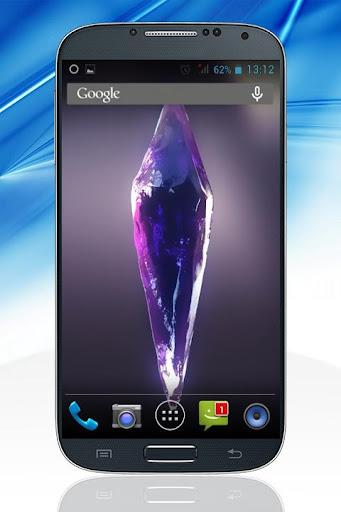 Shiny Violet Crystal 3D LWP