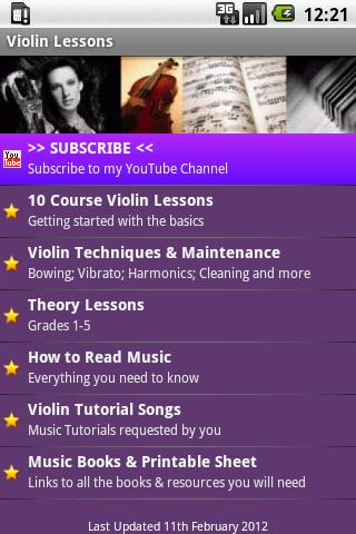 Violin Lesson Tutor- screenshot