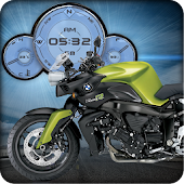 BMW K1200R Moto Clock Widget
