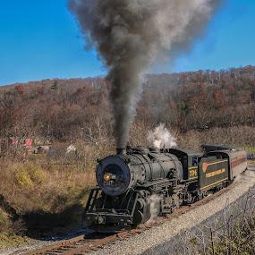 by Sharon Horn - Transportation Trains ( cumberland, steam engine, frostburg, engine )