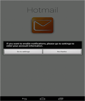 Screenshot of Connect for Hotmail