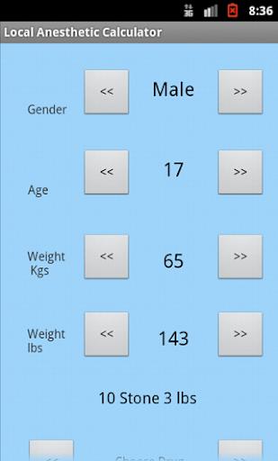 Local Anesthetic Calculator