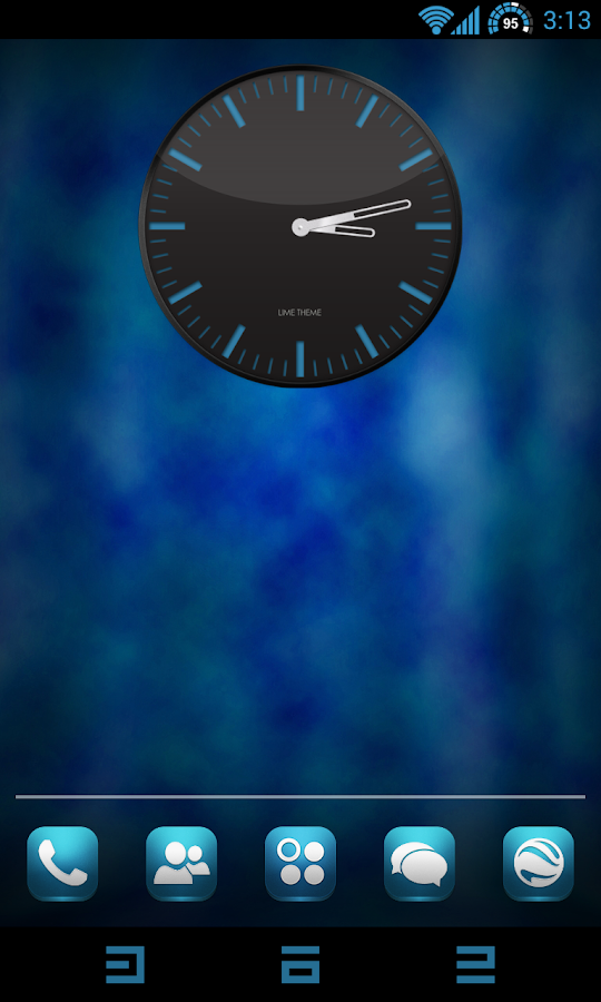 CM 10.2 - Blue Lime Theme Free - screenshot