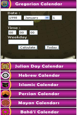 Calendar Conversions - screenshot