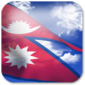 3D Nepal Flag Live Wallpaper + icon