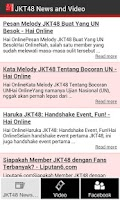 Screenshot of JKT48 News and Video
