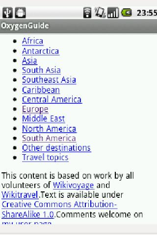 Wikivoyage offline travelguide - screenshot