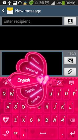 GO Keyboard Pink Hearts Theme 1.0.4 screenshot 636194