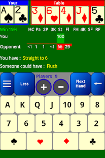 Poker Odds Calculator - screenshot thumbnail