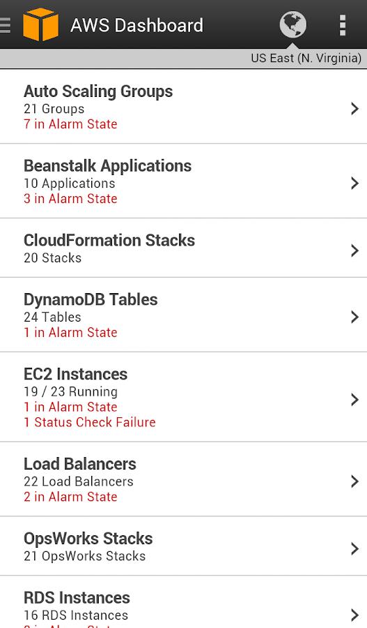 AWS Console - screenshot