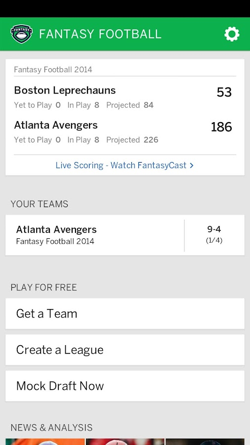 ESPN Fantasy Football- screenshot