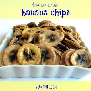 Homemade Banana Chips.