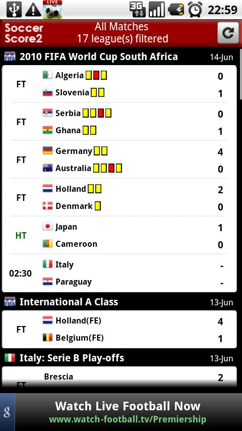 Soccer Live Score 2 (Football) - screenshot