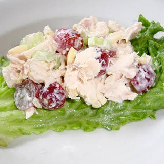 Chicken Salad with Grapes and Almonds.