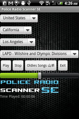 Police Radio Scanner SE - screenshot