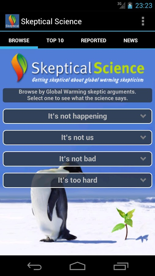 Skeptical Science - screenshot