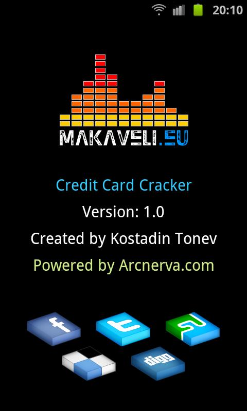 Credit Card Cracker - screenshot