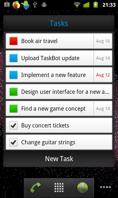 TaskBot - To-do List- screenshot