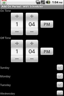 WiFi Scheduler - screenshot thumbnail