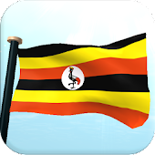 Uganda Flag 3D Free Wallpaper