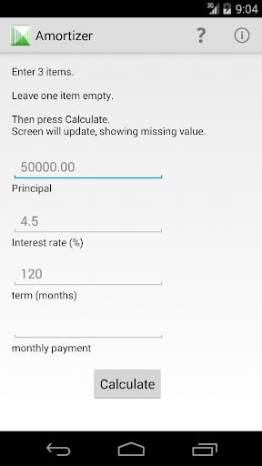 Amortizer - easily plan a loan