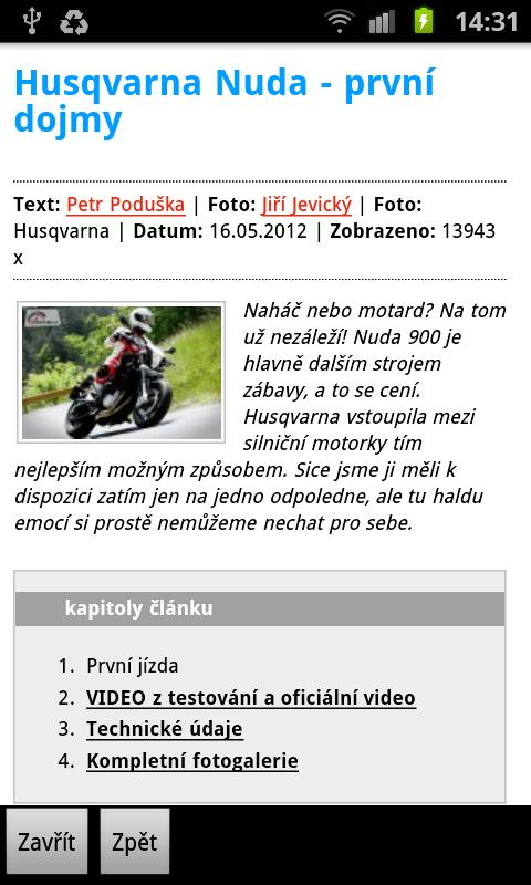 Motorkari.cz - screenshot