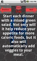 Screenshot of Health Tips