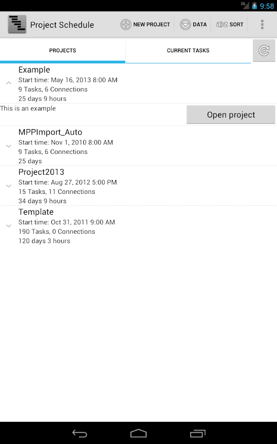 Project Schedule Free - screenshot