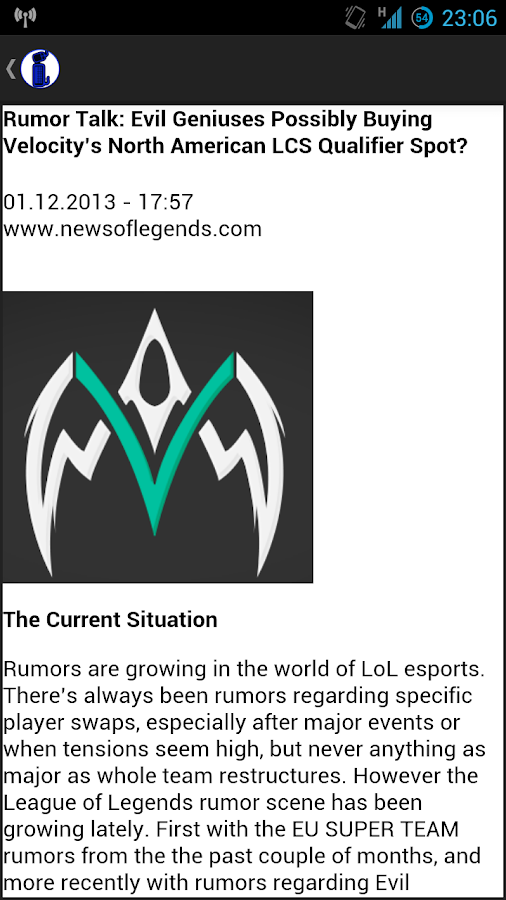 eSport News- screenshot