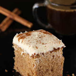 Brown Butter Spice Cake with Whipped Icing.