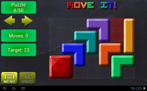 Move it!  Block Sliding Puzzle- screenshot thumbnail