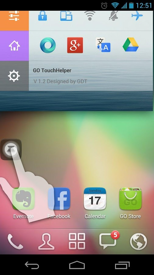 Colorbar Toucher Theme - screenshot