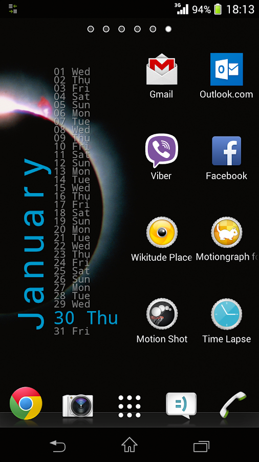 Xperia Calendar Widget- screenshot