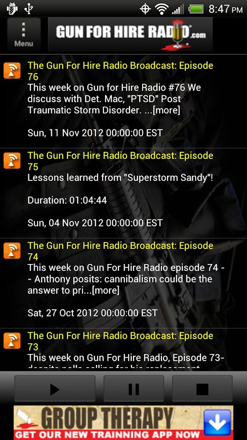 Gun For Hire Radio - screenshot