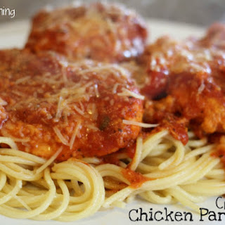 Crock Pot Chicken Parmesan.