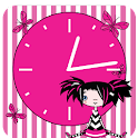 Emo Girl Clock logo