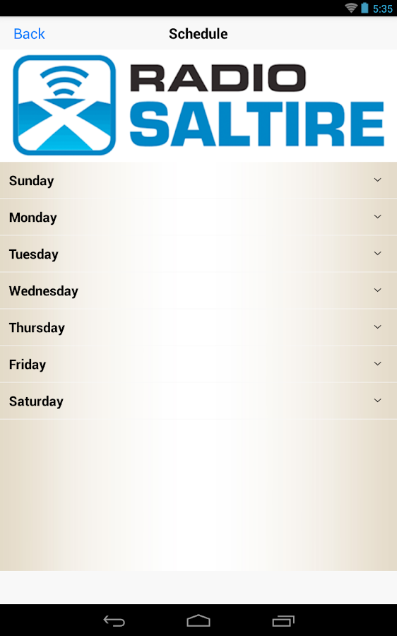 Radio Saltire- screenshot
