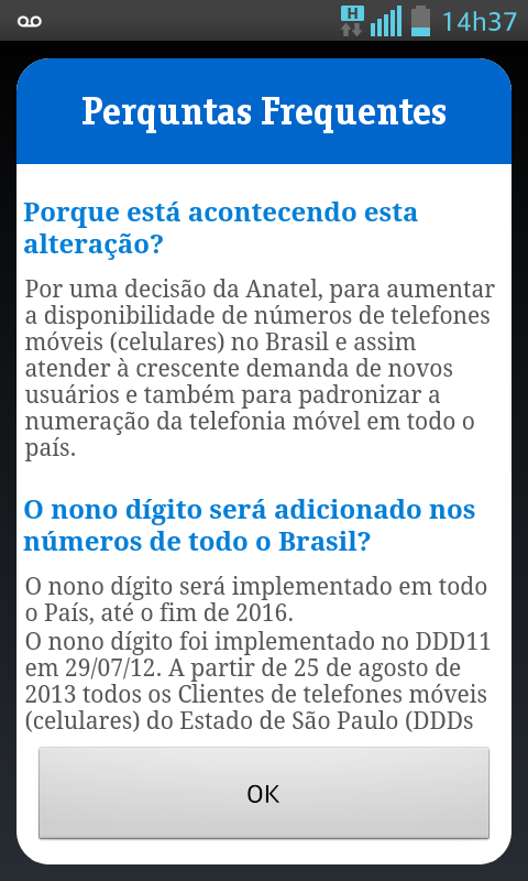 Vivo 9° Dígito - screenshot