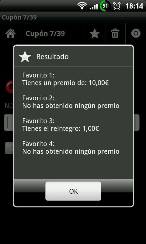 Comprobar Sorteos y Loterias - screenshot