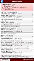 Screenshot of MERLOT Search