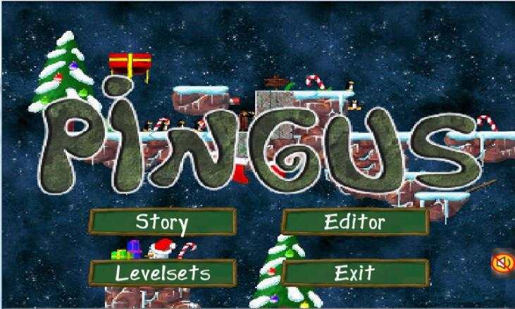 Pingus for Christmas - screenshot