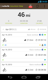 Runtastic Mountain Bike GPS Screenshot 2