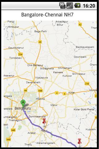 Bangalore-Chennai NH- screenshot