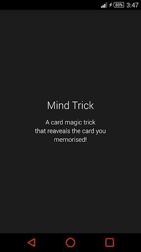 Mind Trick Card Magic Trick