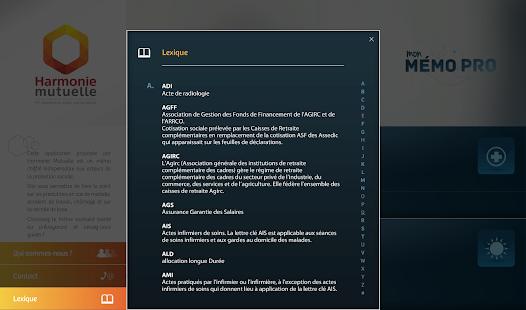 Mon Mémo Pro Harmonie Mutuelle - screenshot thumbnail