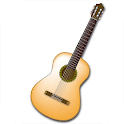Acoustic guitar music sound icon