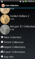 Screenshot of Coin Collection