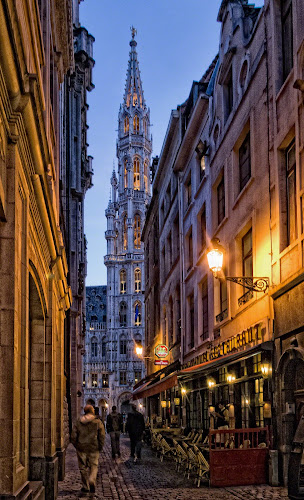 Brussels street by Anton Donev - City,  Street & Park  Street Scenes ( street, grand place, restaurant, brussels, city )